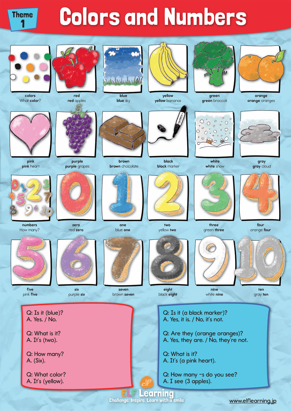 1 - Colors and Numbers Poster - ELF Learning