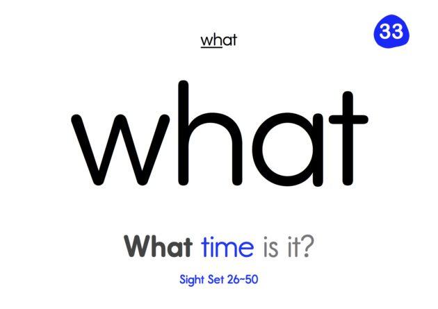 Sight Words 2 - 26~50