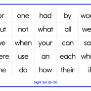 Sight Words 2 - 26~50
