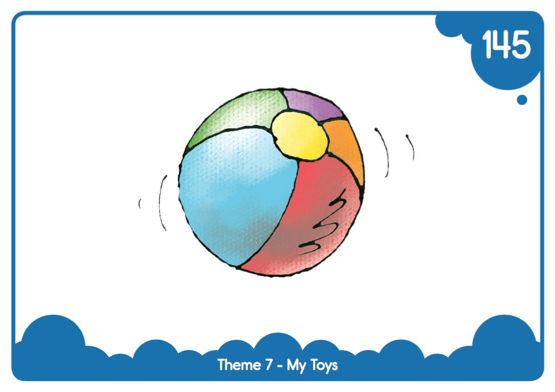 easy-print  u0026quot my toys u0026quot  flash cards